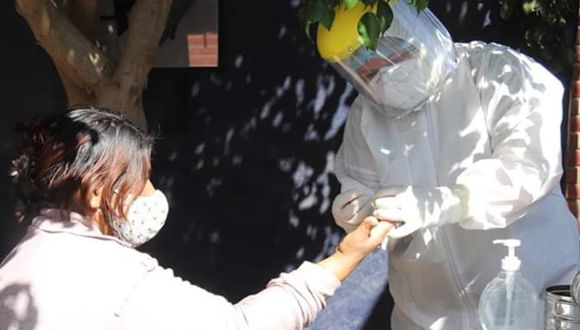 Ica: Realizan pruebas rápidas a vecinos del distrito de Pachacútec y 29 dan positivo y eran asintomáticos. (Foto Diresa Ica)