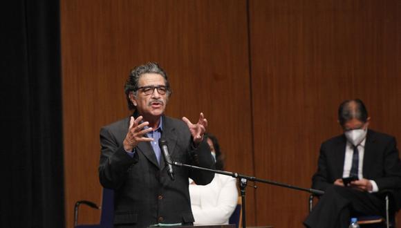 Andrés Alencastre habló en representación de Perú Libre. (Foto: JNE)