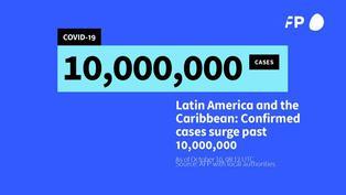 América Latina supera los 10 millones casos del nuevo coronavirus