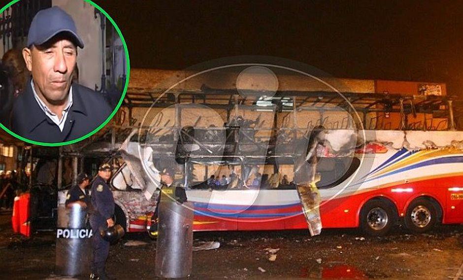 Denuncian que empresa de bus que se incendió en Fiori no dio apoyo a familia que perdió a seis integrantes