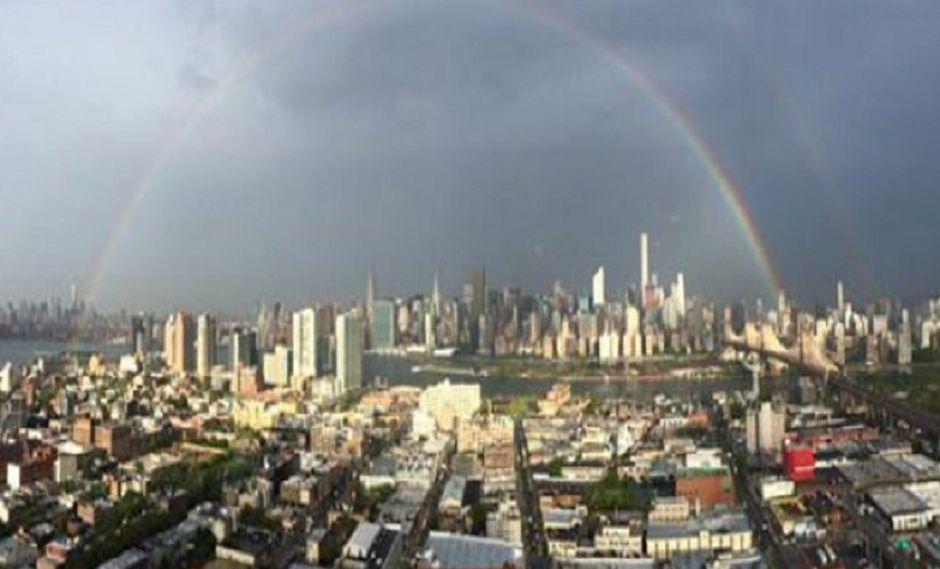Captan arcoiris en el epicentro de los atentados del 11 de setiembre
