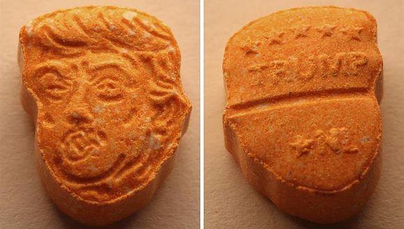Incautan 5.000 pastillas de éxtasis con cara y nombre de Donald Trump (VIDEO)