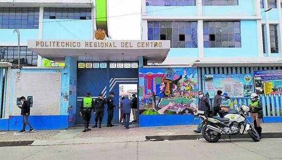 Junín: agentes de la Policía Nacional realizaron el plan 'Cazador 2020', en distintas instituciones educativas de la región. (Foto: GEC)