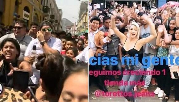 Sheyla Rojas muestra el cariño de sus fans en Gamarra, distinto a lo que pasó con Patricio Parodi