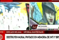 Inti Sotelo y Jack Bryan Pintado: Destruyen mural pintado en su honor en el Cercado de Lima | VIDEO