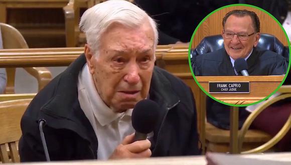 La tierna defensa de un abuelo de 96 años acusado de manejar con exceso de velocidad│VIDEO