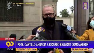 """Ricardo Belmont: """"Vamos a promover como nunca la inversión privada en el Perú"""""""
