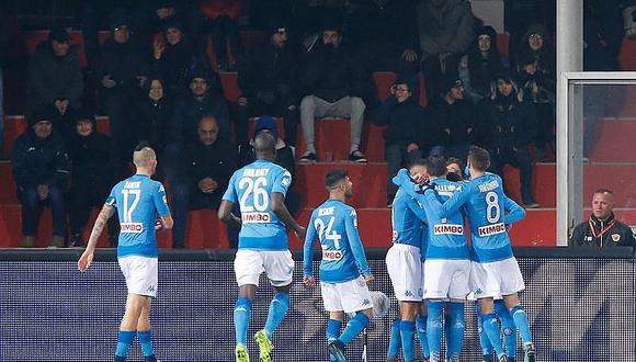 Nápoles vence 2-0 al colista Benevento y sigue líder en Italia (VIDEO)
