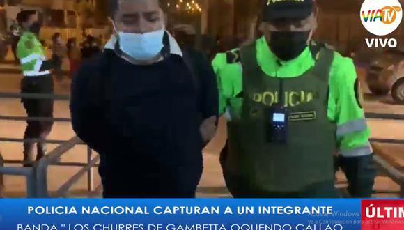 El delincuente Christian Joel Aponte Núñez fue detenido y llevado a la comisaría de Márquez, en el Callao. (Foto: VíaTV)