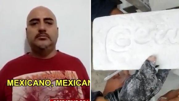 "Narco mexicano del ""Cartel de Jalisco"" enviaba droga con logo de ""Marca Perú""│VIDEO"