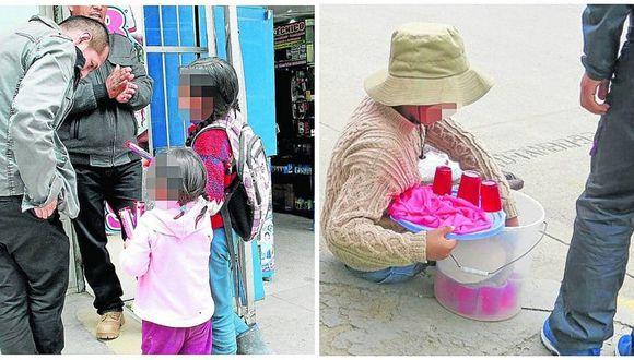 Casi 100 niños venden en la calle para comprar sus útiles escolares en Huancayo