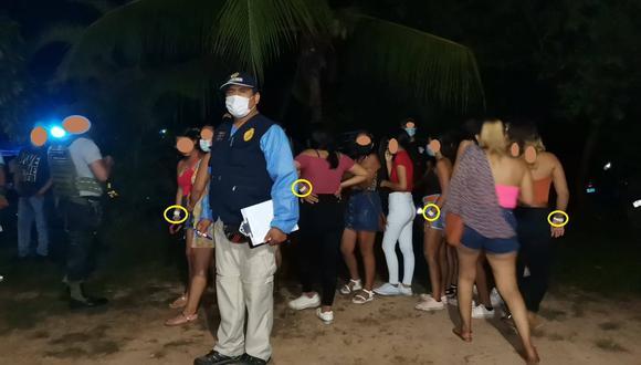 Madre de Dios: la fiesta clandestina contaba con un generador de energía eléctrica, equipos de sonido y luces instaladas a pocos metros del río Tambopata. (Foto: Ministerio Público)