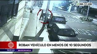Lince: Roban auto en menos de 10 segundos