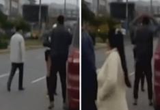 """Policía castiga con """"polichinelas"""" a conductor   VIDEO"""
