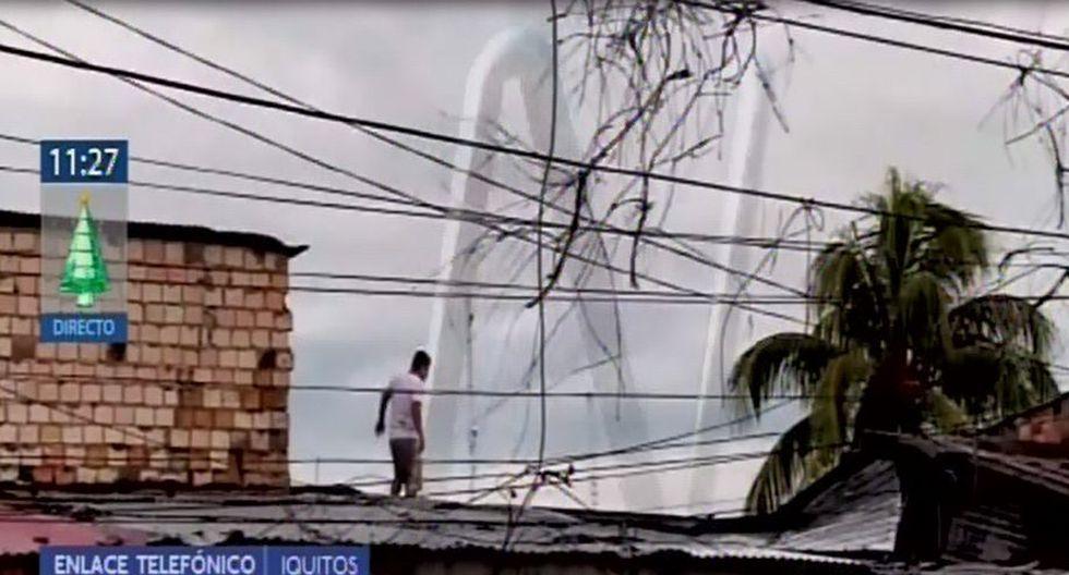 Video muestra cuando el sujeto huye de las autoridades para evitar ser detenido. (Captura: Canal N)