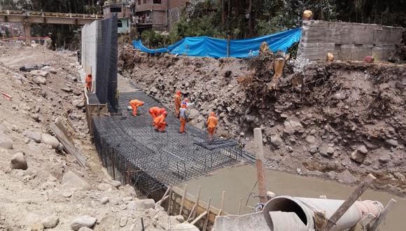 Huancavelica: obra de defensa ribereña, que se encuentra suspendida, supera los 46 millones de soles de inversión. (Foto: Contraloría)