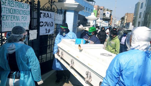 Los casos de fallecidos de COVID-19 en el Perú han tenido un ligero descenso. (GEC)