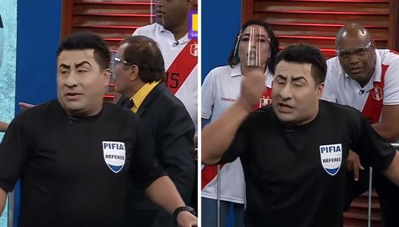 """""""El wasap de JB"""" realizó divertido sketch llamado """"La arbitrada polémica"""" sobre Julio Bascuñán. (Foto: Captura de YouTube)."""
