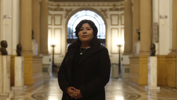 Betssy Chávez es congresista por la bancada de Perú Libre. (Foto: El Comercio)