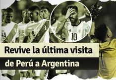 Recuerda la última visita de Perú a Argentina por Eliminatorias