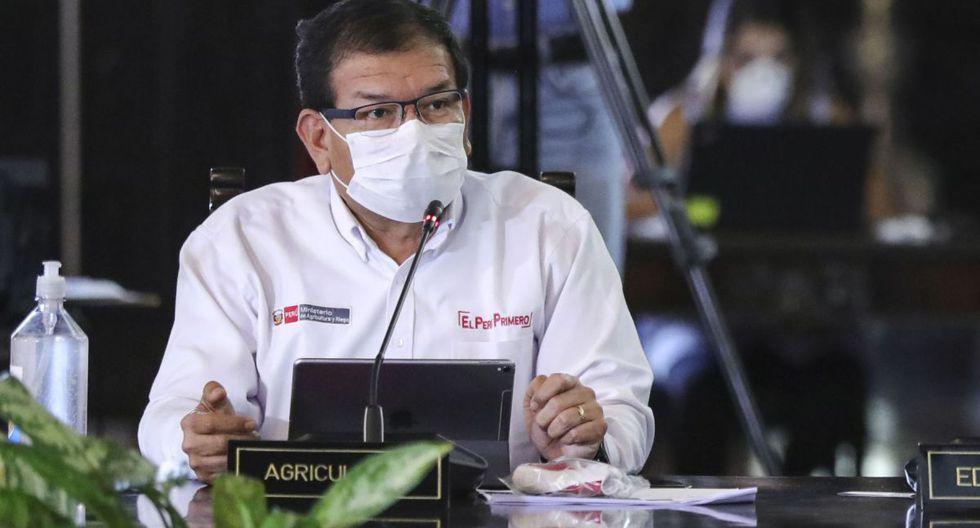 El ministro de Agricultura, Jorge Montenegro, es el primer integrante del Gabinete Ministerial que da positivo a la prueba de coronavirus. (Foto: Andina)