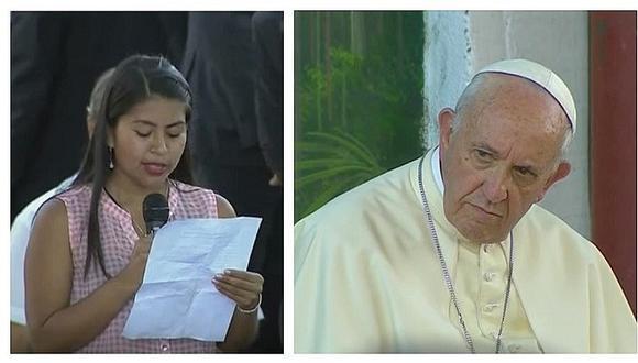 El triste pero admirable testimonio que jovencita le dio al papa Francisco