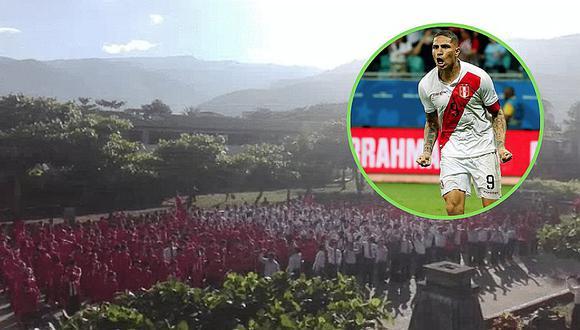 Perú vs. Chile Escolares alientan de manera ingeniosa desde el Vraem | VIDEO