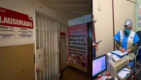 Agentes del orden afirmaron que laboratorio no tenía autorización para tomar estas pruebas. (Fotos: PNP)