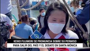 """Keiko Fujimori sobre su permiso para salir del país: """"vamos a esperar a que el juez tome la decisión"""""""