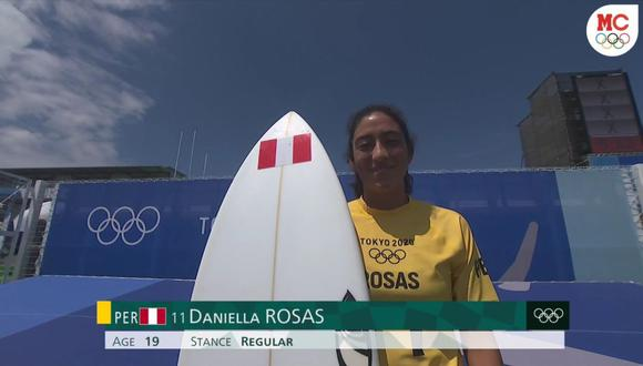 Daniela Rosas quedó cuarta en su serie en el surf de Tokio 2020. (Captura: Marca Claro)