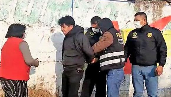 Junín: Agentes de la División de Investigación Criminal de Huancayo dieron con el paradero del feminicida horas después de registrarse el crimen. (Foto: Difusión)