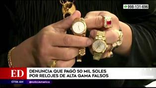 Hombre denuncia que pagó 50 mil soles por dos Rólex falsos