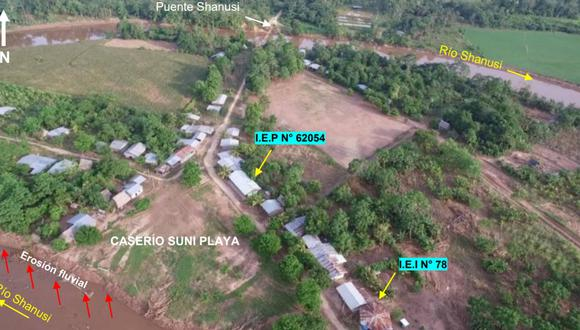 Loreto: Detectan que caserío Suni Playa corre peligro por erosión fluvial e inundación (Foto: Ingemmet)