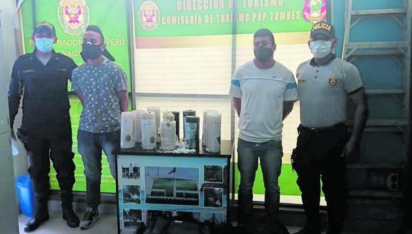 Tumbes: los detenidos son investigados por el presunto delito contra la salud públic,a en la modalidad de promoción o favorecimiento al tráfico ilícito de drogas. (Foto: GEC)
