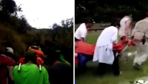 Productor de cine se salva de morir en Machu Picchu al caer 20 metros (VIDEO)