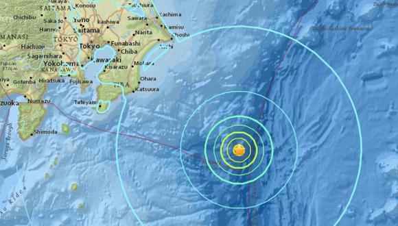 No se emitió alerta de tsunami en Japón. (Foto: USGS)