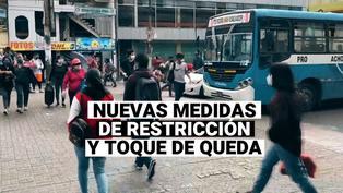 COVID-19: Nuevas medidas de restricción del toque de queda y uso de autos particulares los domingos en Lima y Callao