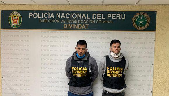 Falsos trabajadores de banco, uno de ellos extranjero, fueron capturados en flagrante delito. (PNP)