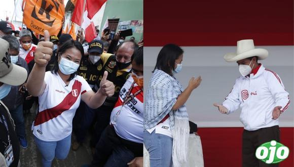 Keiko Fujimori reduce más la distancia con Pedro Castillo:  6.2 puntos de diferencia, según encuesta del IEP / @photo.gec
