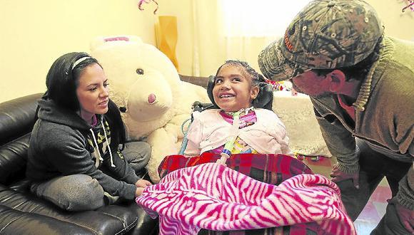 Romina, un ángel que vuelve a sonreír