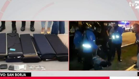 Cuatro delincuentes que asaltaron tienda de mercancía textil en San Borja fueron detenidos esta madrugada tras una persecución que llegó hasta Miraflores. (Captura: TVPerú)