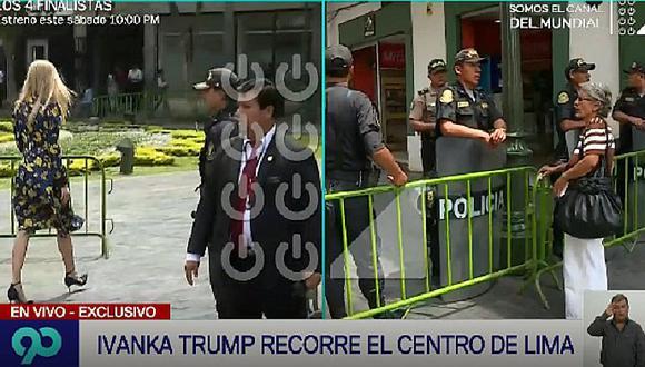 Ivanka Trump llegó a Perú y paseó por el Centro de Lima (VIDEO)