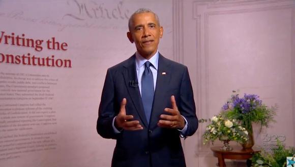 El expresidente de Estados Unidos, Barack Obama, señaló que el gobierno de Trump trata de derribar la democracia. (Foto: Convención Nacional Demócrata /AFP)
