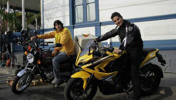 Andrés Wiese y Manuel Gold seran moteros en nueva película (FOTOS)