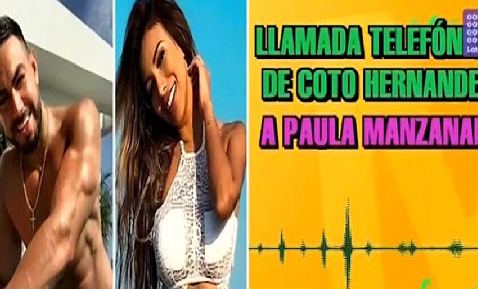 Paula Manzanal: revelan audio que le envió Coto Hernández al verla en EVDLV (VIDEO)