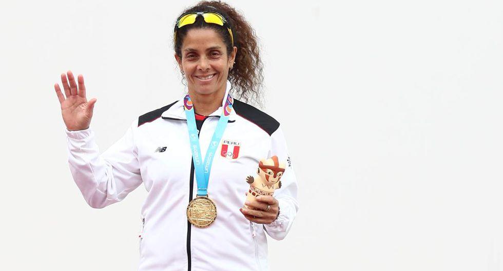 Claudia Suárez – Oro en frontón peruano (Foto: GEC)