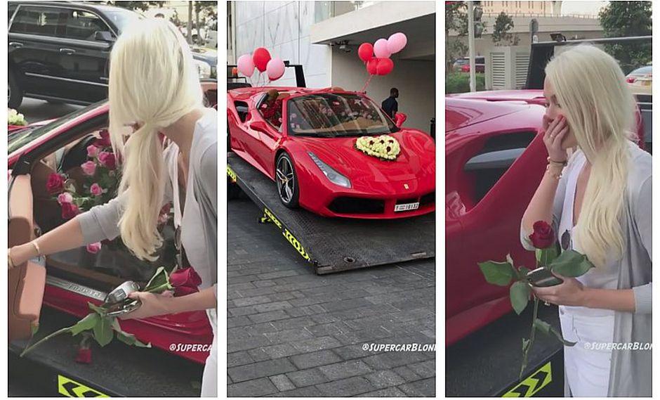 Mujer recibe increíble regalo por San Valentín (VIDEO)