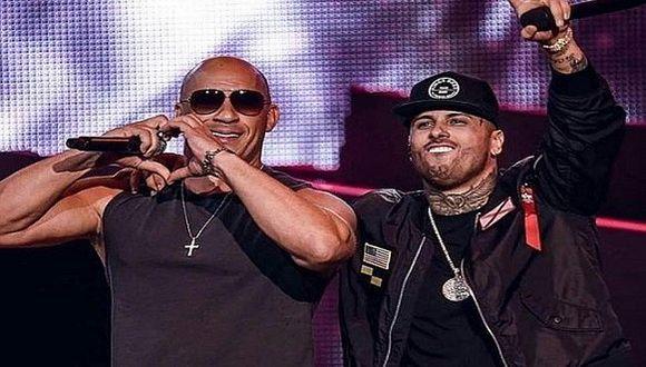 Billboard Latino 2017: Vin Diesel cantó en español junto a Nicky Jam (VIDEO)