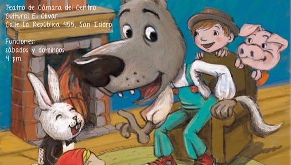Teatro infantil: Los cuentos del lobo feroz va hasta el 17 de diciembre