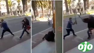 Extranjeros se pelean a fierrazo limpio en plena vía pública por los clientes | VIDEO